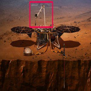 نمونهای از کاربرد بازوی رباتیک در یک مأموریت فضایی بر روی مریخ