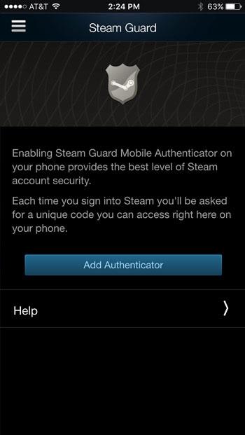 انتخاب گزینه add authenticator