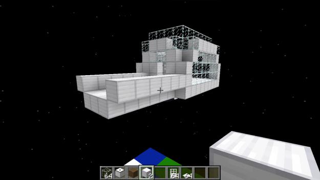 ایستگاه فضایی در ماینکرافت مود فضا