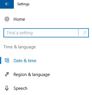 رفتن به بخش تنظیمات زبان